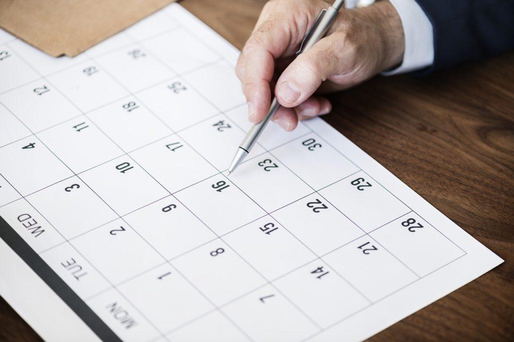 Choisir la date de l'évènement